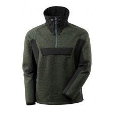 Knitted Jacket, half zip, membrane