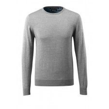 Knitted Jumper round neck, with merino w