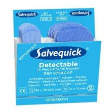 Salvequick 6754CAP fingertip detectable pleisters