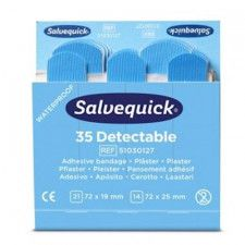 Salvequick blue detectable pleisters